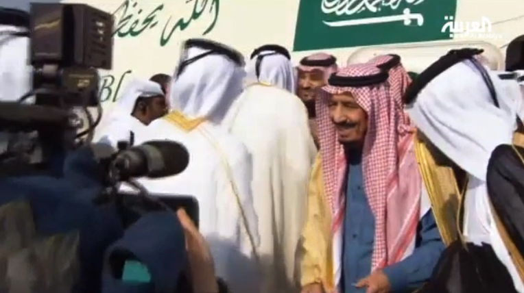 Saudi Crown Prince Salman bin Abdulaziz al-Saud arrives in Doha to attend the GCC summit.