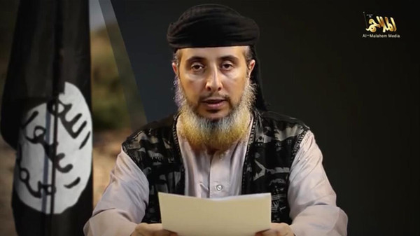 A man, who purportedly is a member of al-Qaeda in the Arabian Peninsula (AQAP), the militant network's Yemen arm, speaks in this still image taken from video purportedly published by AQAP.