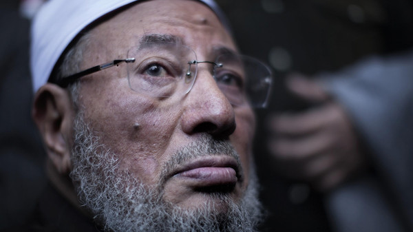 A file picture taken on Feb. 18, 2011, of Egyptian-born Muslim cleric Sheikh Yussef al-Qaradawi.