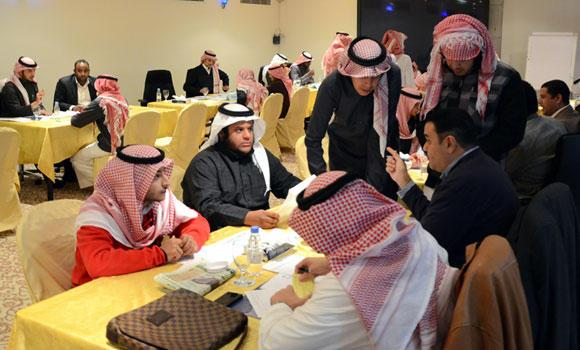 In this file photo, young Saudis attend interviews at a job fair in Riyadh. (SPA)