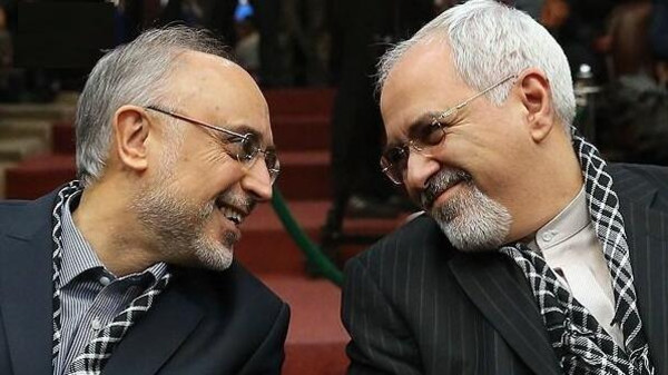 Iranian Foreign Minister Mohammad Javad Zarif and Ali Akbar Salehi