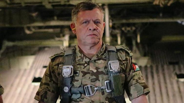Jordan's King Abdullah in an army uniform taken from the King's Facebook account after he swore to increase war against ISIS.