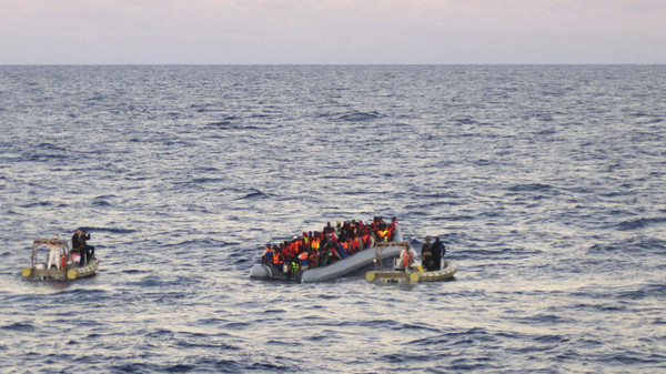 UNHCR says at least 218,000 migrants crossed the Mediterranean by boat last year and 3,500 lives were lost.