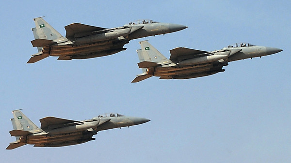 Jet fighters of the Saudi Royal air force performing during the graduation ceremony of the 83rd batch of King Faisal Air Academy (KFAA) students at the Riyadh military airport, in the Saudi capital.