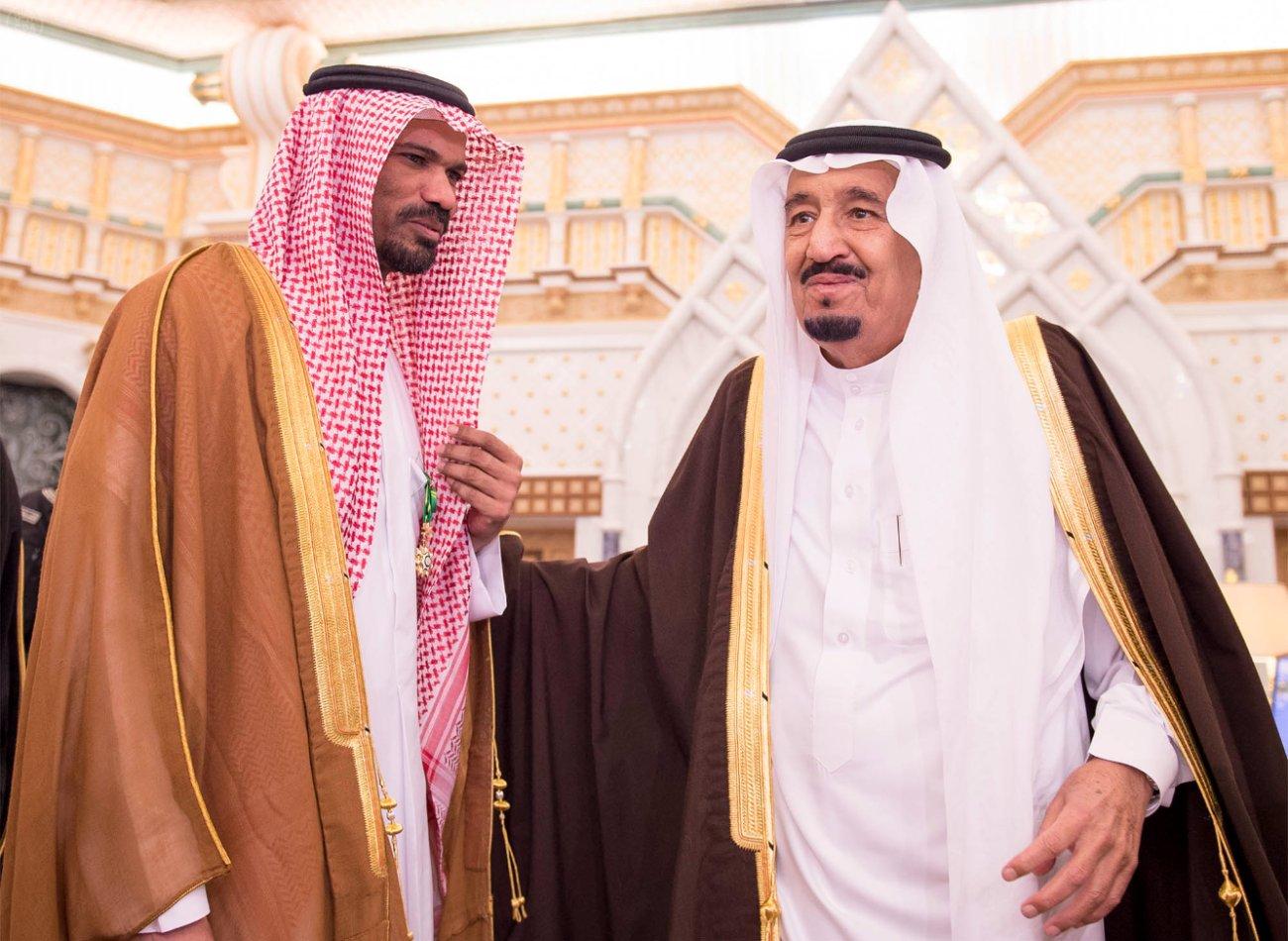 King Salman with Khalid