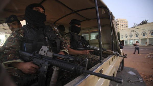 The sources said at least 15 other members of the group, officially known as Ansarullah, were wounded in the attack.