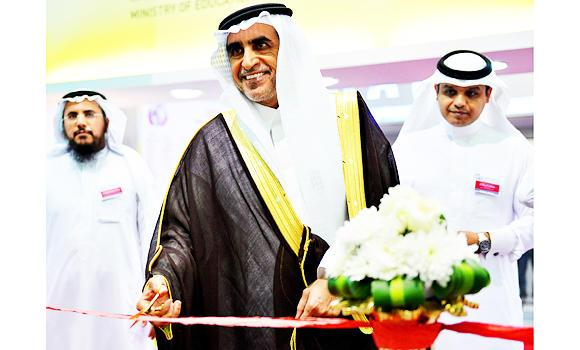 Education Minister Dr Azzam Al-Dakhil inaugurating the International Exhibition and Conference on Higher Education (IECHE 2015) in Riyadh. (SPA)