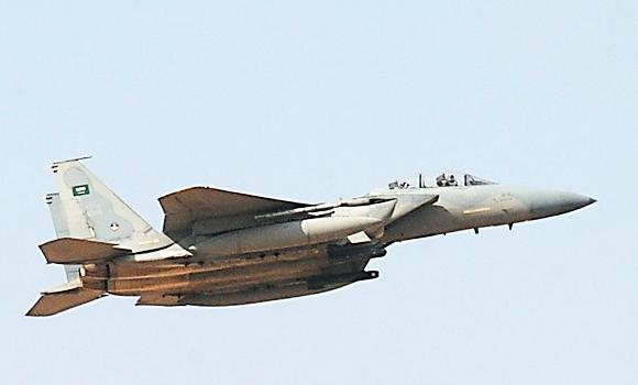 In this January 1, 2013 file photo shows jet fighter of the Saudi Royal air force performing during the graduation ceremony of the 83rd batch of King Faisal Air Academy (KFAA) students at the Riyadh military airport, in the Saudi capital.