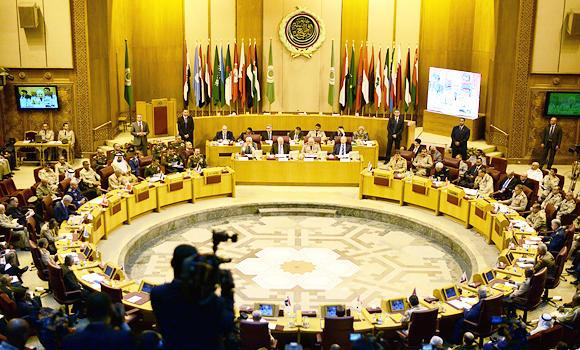 A general view of a meeting in the Arab League's headquarters in the Egyptian capital, Cairo, on May 23, 2015, where Arab army chiefs met to drafted a protocol for a new joint force.