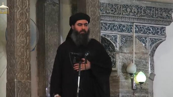 In the absence of Abu Bakr al-Baghdadi (pictured) a long-term senior ISIS official and former physics teacher Abu Alaa al-Afr has been appointed the deputy leader.