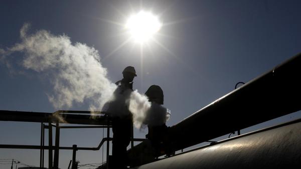 An oil refinery in Libya.