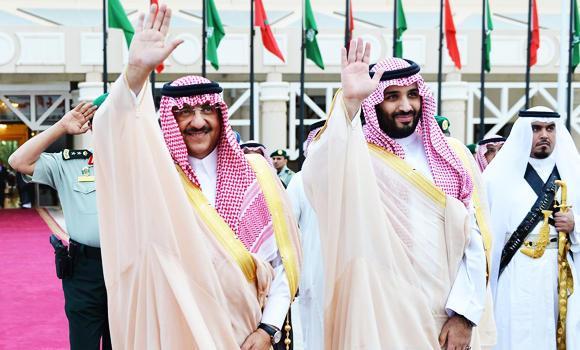 Crown Prince Mohammed bin Naif and Deputy Crown Prince Mohammed bin Salman.
