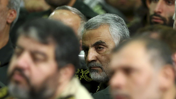 In this Tuesday, Sept. 17, 2013 file photo, head of the elite Quds force of Iran's Revolutionary Guard, Qassem Soleimani, attends a meeting of the commanders of the Revolutionary Guard.