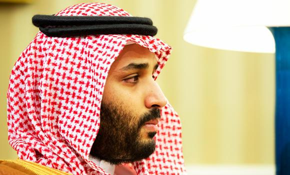 Saudi Arabian Deputy Crown Prince Mohammed bin Salman listens in the Oval Office of the White House in Washington, in this May 13, 2015 photo, during a meeting between Saudi Arabian Crown Prince Mohammed bin Nayef and President Barack Obama.