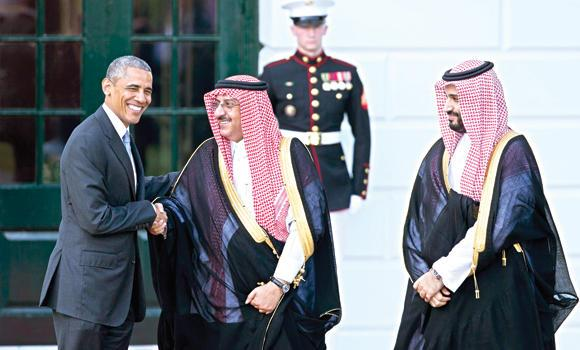US President Barack Obama said Crown Prince Mohammed bin Naif has been a partner in counterterrorism work and that Deputy Crown Prince Mohammed bin Salman struck him as extremely knowledgeable, very smart and wise beyond his years.