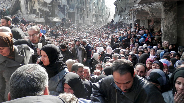 Palestinian officials visited Syria once again to discuss efforts to protect the Yarmouk refugee camp and its residents.