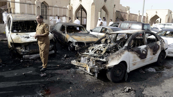 Khaled al-Wahbi al-Shemari detonated the explosive belt he was wearing at entrance of the Al-Anoud mosque.