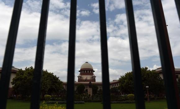 A view of the Indian Supreme Court in New Delhi.