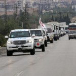 Aid convoy enters besieged Madaya town