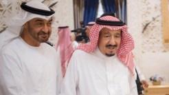 Saudi king Salman meets Abu Dhabi corwn prince in Riyadh.