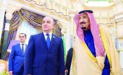 King Salman and Shukurjon Zuhurov