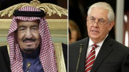 King Salman began the conversation by congratulating Tillerson who in turn applauded Saudi Arabia's efforts in promoting stability across the region.