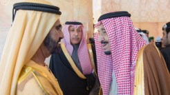 Sheikh Mohammed with King Salman.