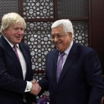 Britain's Johnson backs two-state solution on Mideast trip