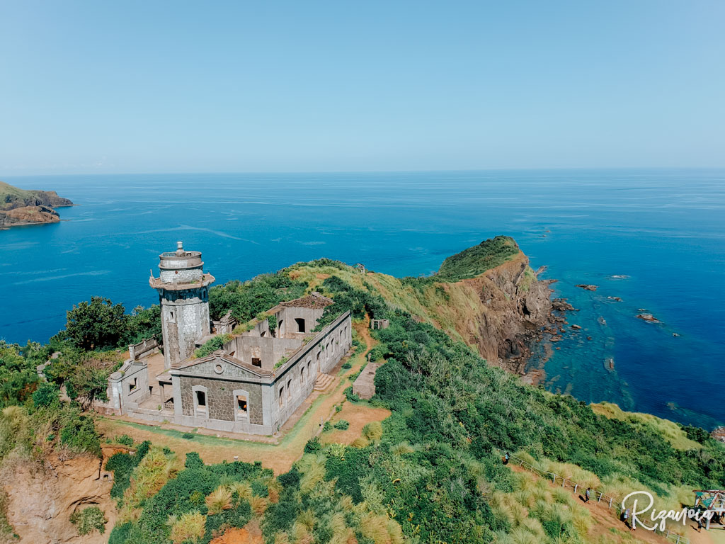 Aerial View of Cape Engano Lighthouse in Palaui Island, Sta. Ana, Cagayan