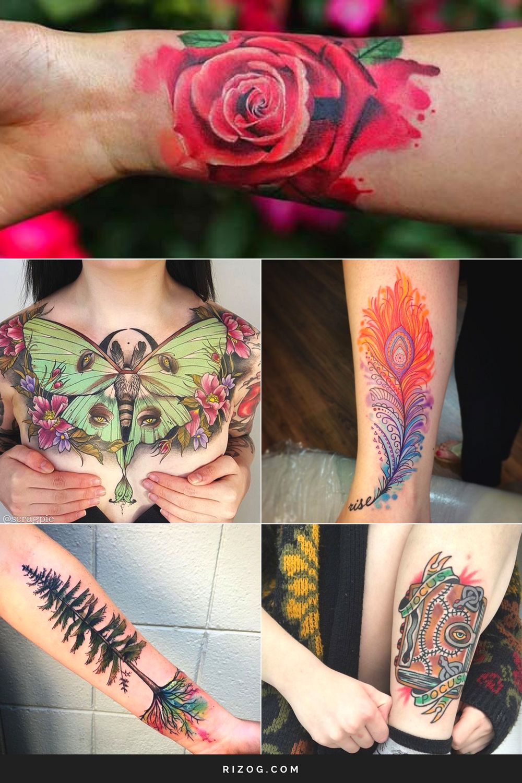 Los Más Coloridos Tatuajes Para Mujeres Creativas