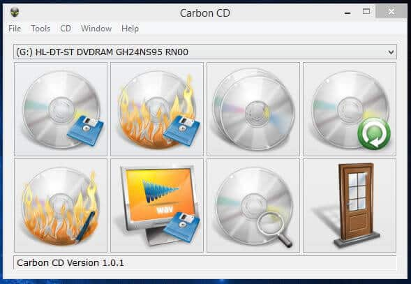 Carbon CD Main Screen