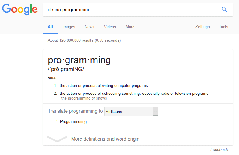 Get Definition of a Word