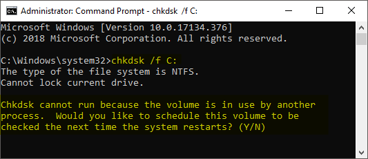 CHKDSK automatically fix errors
