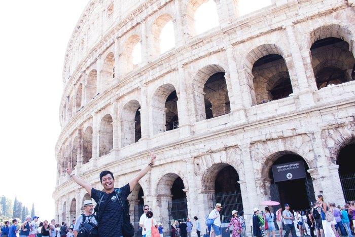 Rizqi Fahma di Colosseum Roma
