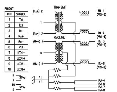 RJMG163123101NR RJ45 With Integrated Magnetics Rjmag 10