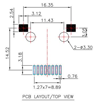 LPJE8802DNL Low Profile rj45 Cross 95540-6886 Surface