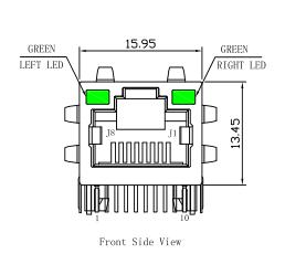 LPJG16506AZNL Rj45 Connector Jack , Gigabit Ethernet