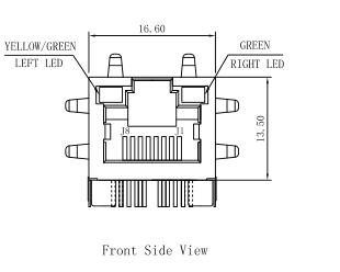 HR911196A Lan Transformer Rj45 1000 Baset POE+ 10/100/1000