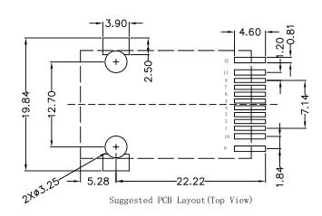 LPJ19618ABNL Power SMT Rj45 1x 10/100BT With LED Shielded
