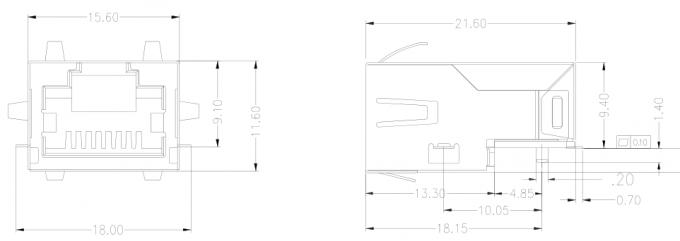 7498210003 SMT Ultra Low-Profile RJ45 Jack LPJ19960CNL