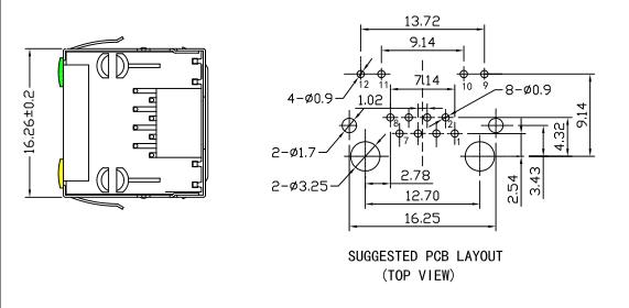 8p8c RJ45 , RT-TGLED Single Port CONN MOD JACK Ethernet