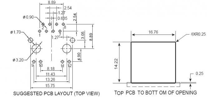 single port 100BASE Magnetic RJ45 Jack Module with LEDS