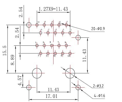 2 X 1 Transmitter Filter RJ45 Ethernet Jack Module / Led