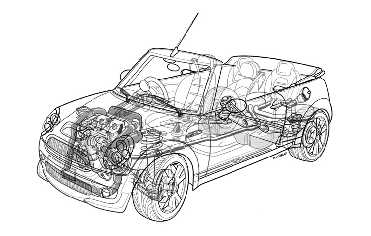 Robert Corley Technical Illustrator, Technical