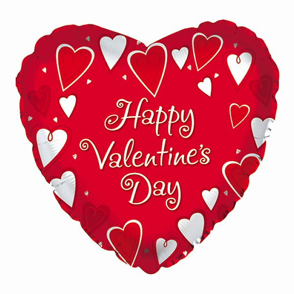 18 In Happy Valentines Day Classic Hearts Mylar Balloons