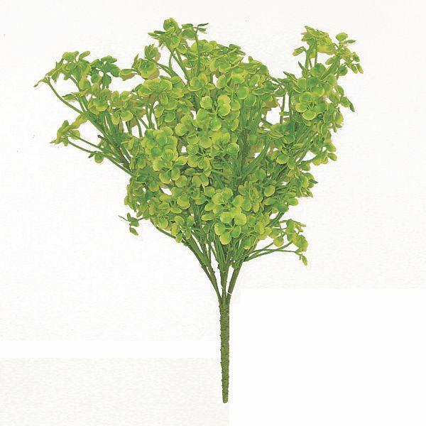 15in Poly Clover Bush X 7 Green Yellow Artificial