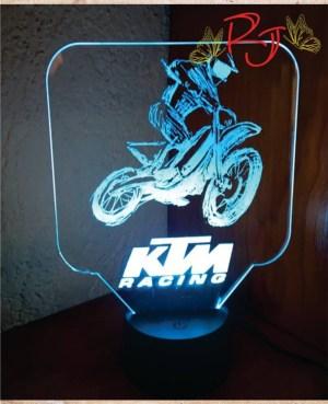 lampara led personalizada KTM