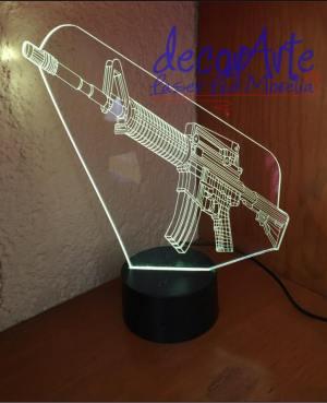 lampara led 3d arma