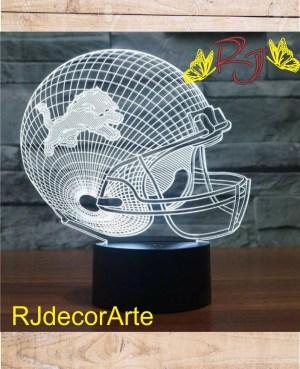 lampara led casco americano