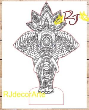 Vector elefante mandala